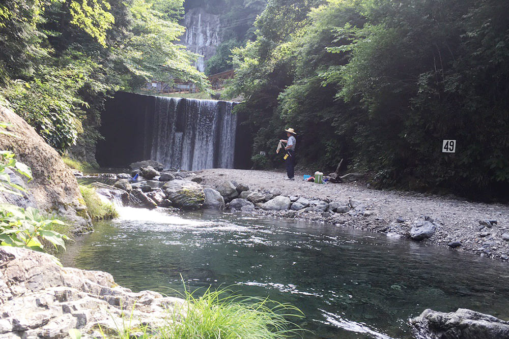 有間渓谷観光釣り場